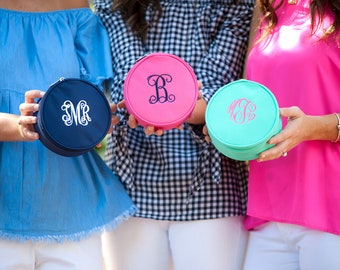 Monogrammed Jewelry Case, Monogrammed Gifts, Monogram Travel Collection, Bridesmaids Gifts
