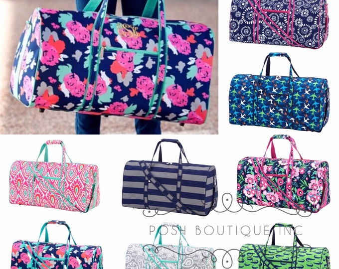 Monogrammed Duffle Bags, Summer Camp, Monogrammed Gifts, Duffel Bag, Cosmetic Bag, Kids travel set, Boys duffle bags, Girls duffle bags