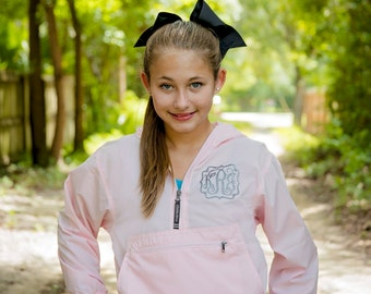Women's Monogram Rain Jacket, Pack N Go Pullover, Monogram Jacket, Women's monogram jacket, Girls, Teens