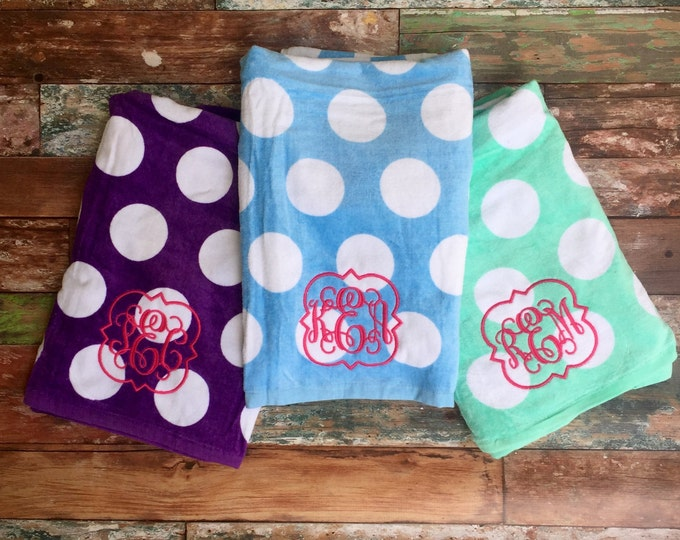 Monogrammed Beach Towels, Monogram Beach Towels, Beach Towel, Monogrammed Gifts, Bridesmaid Gift, Destination Wedding, Summer Wedding Favors