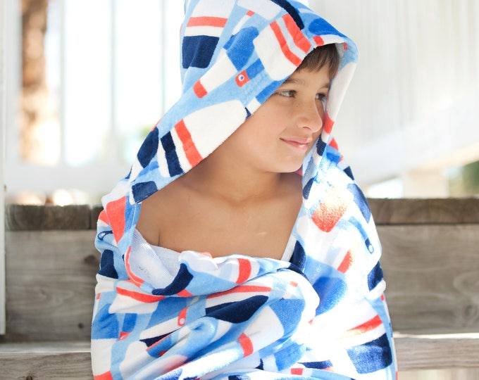 Sale! Monogrammed Hooded Beach Towel, Kids Monogrammed gifts, Kids Beach Towels, Toddler Beach Towel