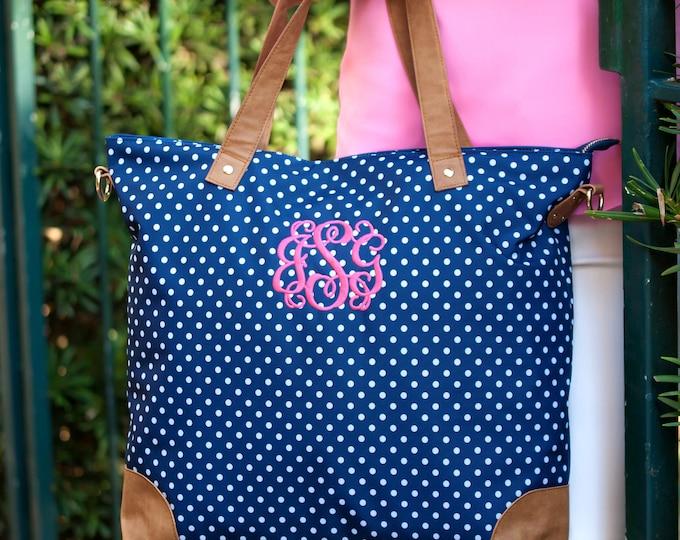 Monogrammed Shoulder Bag, Tote Bag, Gifts for her, Laptop Bag, Graduation Gifts, Back to School
