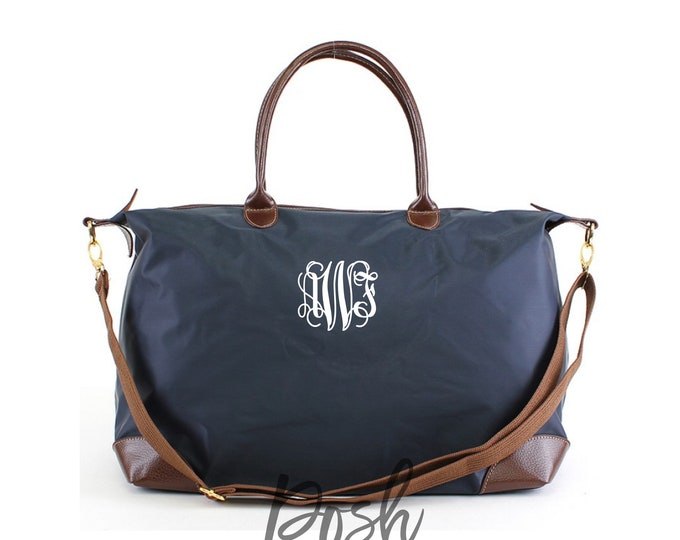 Oversized Monogrammed Duffle Bag, Personalized Weekender Bag, Personalized Gifts, Gifts for Her, Monogram Travel Set