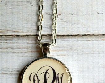 Monogram Necklace Monogrammed gifts Bridesmaid gift Christmas gift Gifts for her Personalized Monogram Necklace Teachers Gift