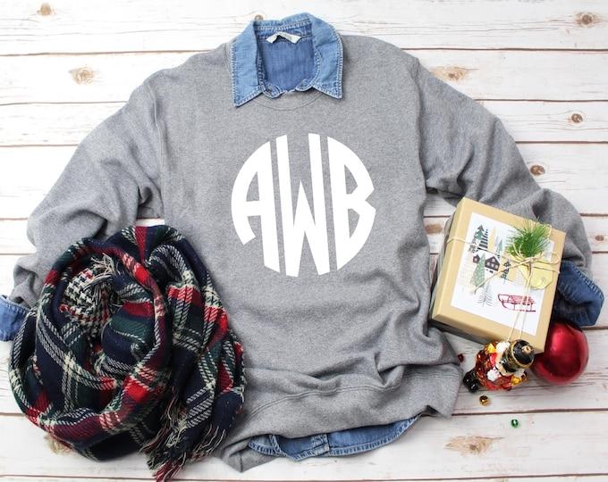 SALE! Monogram Crewneck Sweatshirt, Personalized Sweatshirts for Ladies and Girls