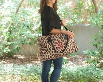 Monogrammed Weekender Bag, Monogrammed Duffle Bags, Overnight Bag, Weekender Bag, Gifts for her, Christmas Gifts, Bridesmaid Gifts