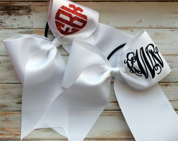 Monogrammed Cheer bows, Monogram Hair Bows, Monogrammed Hair Bow, Monogrammed Gifts, Team Discounts, Bows for Cheer Camp