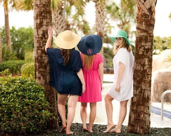 Monogrammed Floppy Hats, Bridesmaid Gifts, Beach Hat, Monogrammed Floppy Hat, Monogrammed Gifts, Beach hat, Sun hat