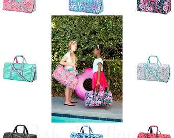 Monogrammed Duffle Bags, Summer Camp, Monogrammed Gifts, Duffel Bag, Cosmetic Bag, Kids travel set, Boys duffle bags, Girls duffle bags