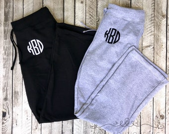 Monogrammed Sweatpants, Personalized Bridesmaid Sweatpants, Monogram Gift for Her, Gifts under 30