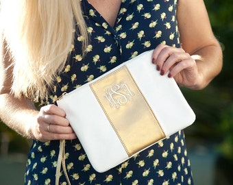 Monogrammed Cabana Wristlet, Cabana Collection, Bridesmaid Gifts, Gifts for Her, Group Discounts