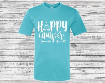 Custom Camping Shirts, Camping tee shirts, Camper Tee Shirt, Teepee, Road Trip, Camping Trip, Mountains, Hiking, Adventure, Road Trip Shirts