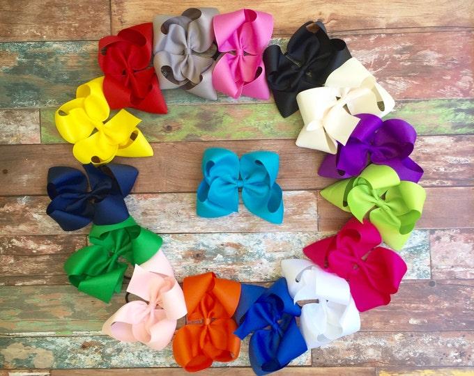 Boutique Hair Bow, Big Hair bow, Jumbo Hair Bow, You choose colors, Girls, Baby, Toddler's, Hair Bows, Hairbows, Hair bow