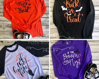 Fall Tee Shirt, Halloween Shirt, Boutique Tee Shirts, Baddest Witch Shirt, Hello Fall shirt, Ladies Fall and Halloween Tee Shirts