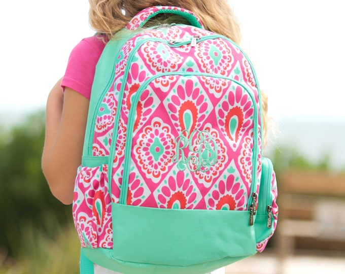 Beachy Keen Backpack, Monogrammed Backpack, Girls Backpack, Backpacks on Sale