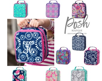 Monogrammed Lunch Box, Back to School, Lunchbox, Girls Lunch box, Boys Lunch Box, Kids Lunch Box, Preppy lunch box, Personalized Lunchboxes