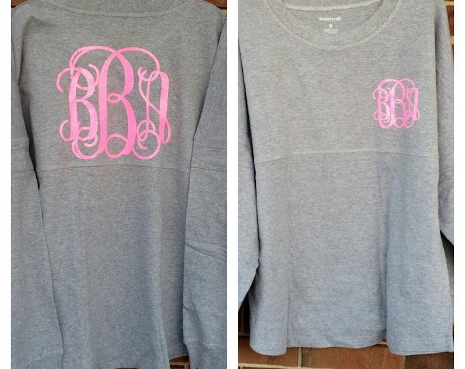 Monogrammed Pullover Jersey, Monogram Pullover, Monogrammed Jersey, Monogrammed Long Sleeve Shirt