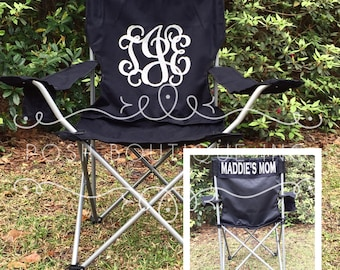 Custom Folding Chair, Monogrammed Chair, Personalized Camp Chair, Groomsman gifts, Custom Chairs, Coaches chair, Game Day Chairs