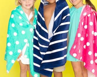 Sale! Monogrammed Hooded Beach Towel, Kids Monogrammed gifts, Kids Beach Towels, Toddler Beach Towel