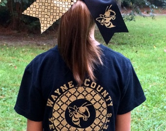 Custom Logo T Shirt, Custom School, Team, Group Tee shirt, Optional Matching Hair Bow, You choose color, design, Your Custom Logo