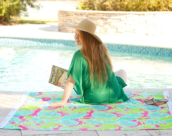 Monogrammed Beach Blanket, Beach Towel, Sun Blanket, Couples Beach Towel, Monogrammed gifts, Bridesmaid gifts