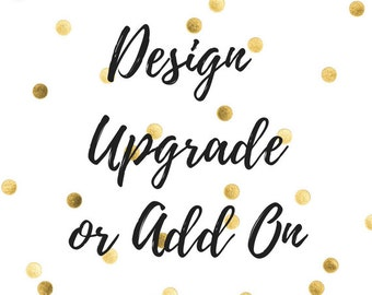 Size, Glitter, or Embroidery Upgrade