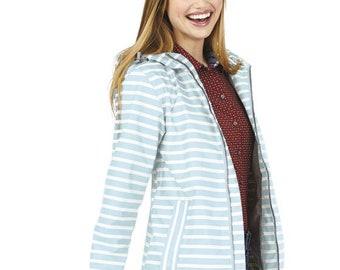 New Englander Printed Rain Jacket, Full Zip New Englander Rain Jacket, Personalized Rain Jacket, Monogrammed Rain Jacket