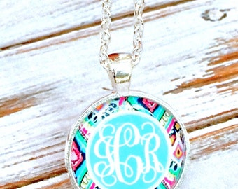 Monogrammed gifts Monogram Necklace Jewelry Bridesmaid gift Initial Necklace Monogram Gifts