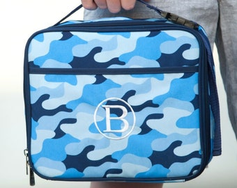 Sale! Cool Camo Lunch Box, Lunchbox, Monogrammed Lunch Box, Personalized Lunch Box