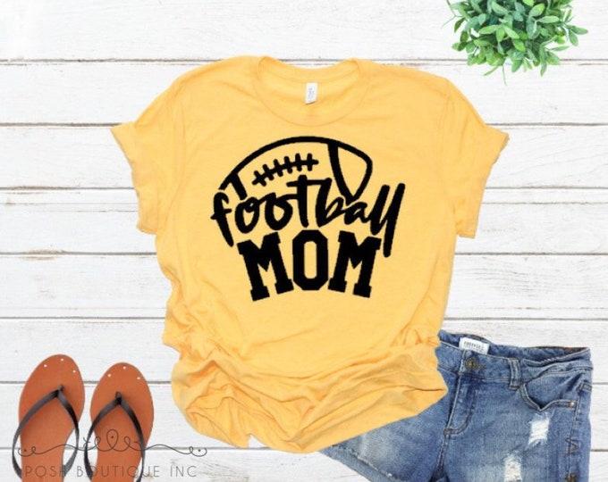 Football Mom Shirt, Custom Football Shirts, Boutique Football Shirt, LadiesFootball Shirt, Custom Football Shirt