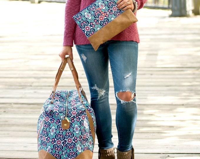 Monogrammed Weekender Bag, Monogrammed Duffle Bags, Overnight Bag, Honeymoon Bag, Bridal Shower Gift, Gifts for her, Christmas gifts