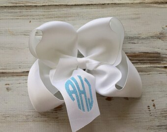 Monogrammed Hair Bow, Monogrammed gifts, Big Cheer Bows, Hair Bows for Girls, Boutique Hair Bows, Hair Accessory