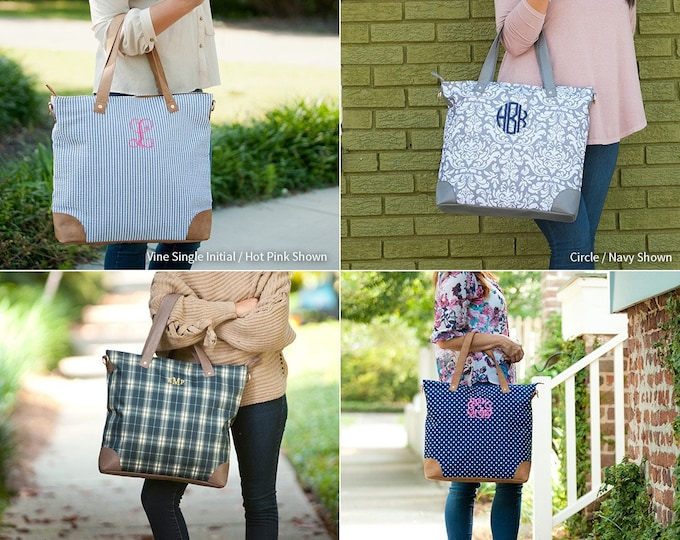 Monogrammed Tote Bag, Monogram Purse, Monogrammed Shoulder Bag, Personalized Tote, Gifts for Her