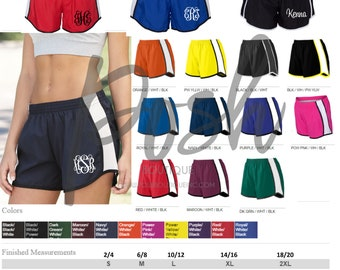Monogram Running Shorts - Cheer Shorts - Monogram Cheer Shorts - Custom Cheer Shorts - Team Discounts