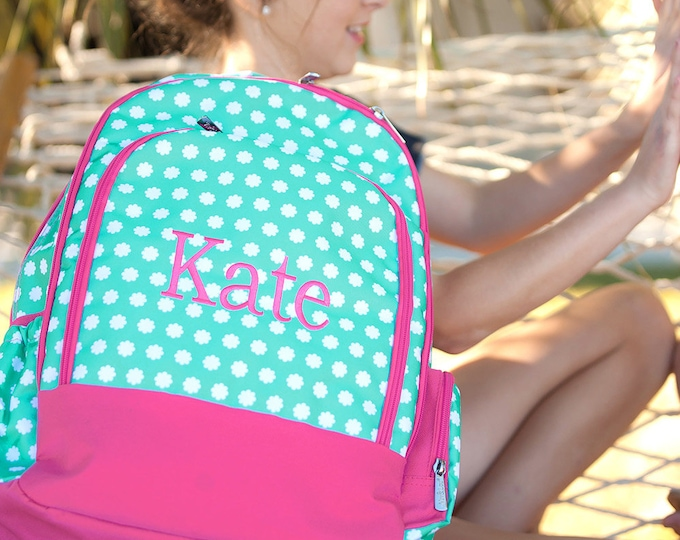 Hadley Bloom Travel Set, Monogrammed Travel Set, Summer Camp, Backpack, Duffle Bag, Lunchbox, Cosmetic Bag, Girls Travel Set, Back To School