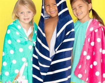 Sale! Monogrammed Hooded Beach Towel, Kids Beach Towel, Monogrammed gifts