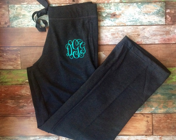 Monogrammed Sweatpants, Bridesmaid gift, Cheer Sweatpants, Monogrammed Sweatpants, Monogrammed Activewear