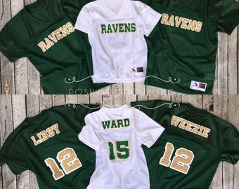 Custom Football Jersey, Womens Football Jersey, Girls Football Jersey, Toddler Football Jersey, Kids Football Jersey