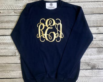 Monogrammed Sweatshirt, Monogram Sweatshirts, Monogrammed gifts, Crewneck Sweatshirt, Gift for her, Gifts under 20