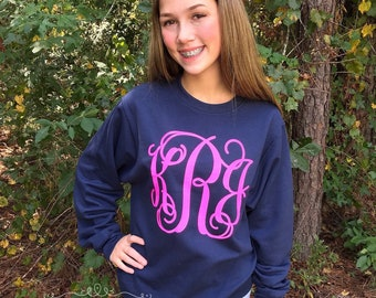 Monogram Pullover Sweatshirt, Personalized Sweatshirts for Ladies and Girls, Sweatshirt Sale, Gifts For Her