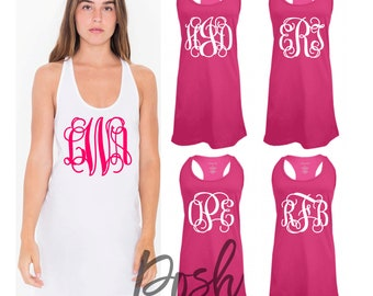 Monogrammed Swimsuit Coverup, Monogram Swim Cover Ups, Monogrammed Tank dress, Bridesmaid Tank Dress, Bachelorette Tank Dress