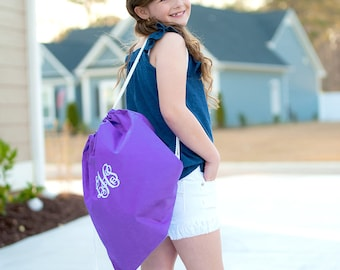 Monogram Gym Bag, Drawstring Backpack, Dance Bag, Kids Backpacks, Personalized Gym Bags, Monogrammed Backpack