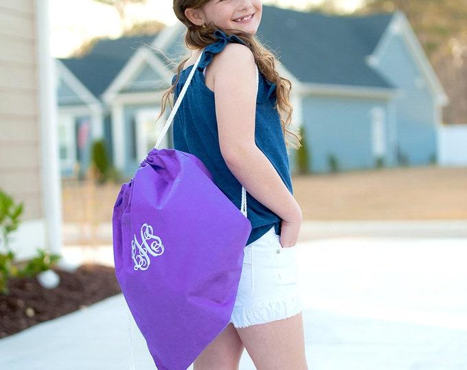 Monogrammed Gym Bag, Dance Bag, Kids Backpacks, Personalized Gym Bags, Monogrammed Book bag