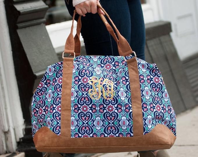 Monogrammed Weekender Bag, Monogrammed Duffle Bags, Personalized Overnight Bag, Weekender Bag, Honeymoon Bag, Bridal Shower Gift