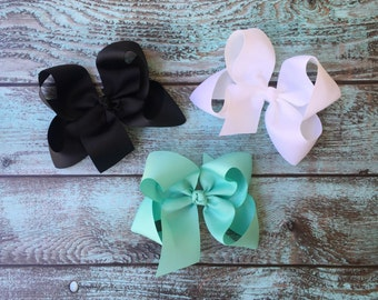 Jumbo Boutique Hair Bows, Handmade Hair Bows