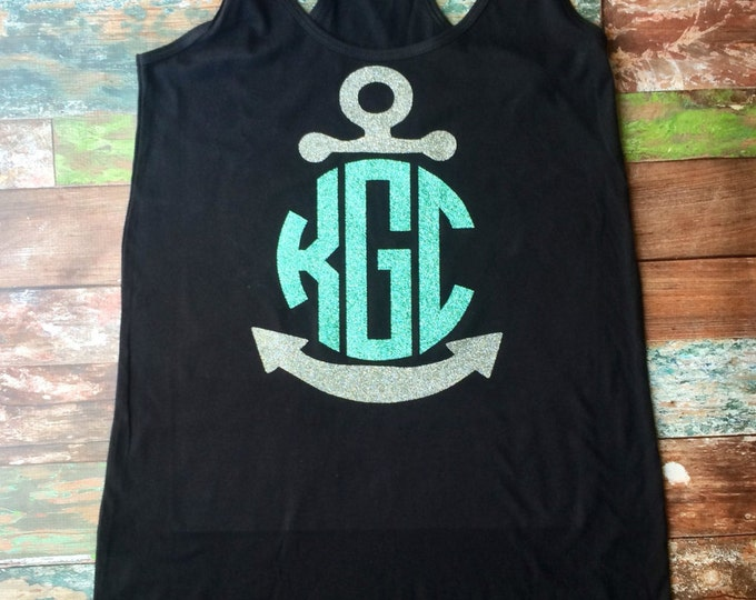 Monogrammed Swimsuit Coverup, Monogrammed Tank Dress, Bridesmaid Gifts, Anchor Tank Dress, Monogrammed Gifts, Cruise, Bachelorette, Vacation