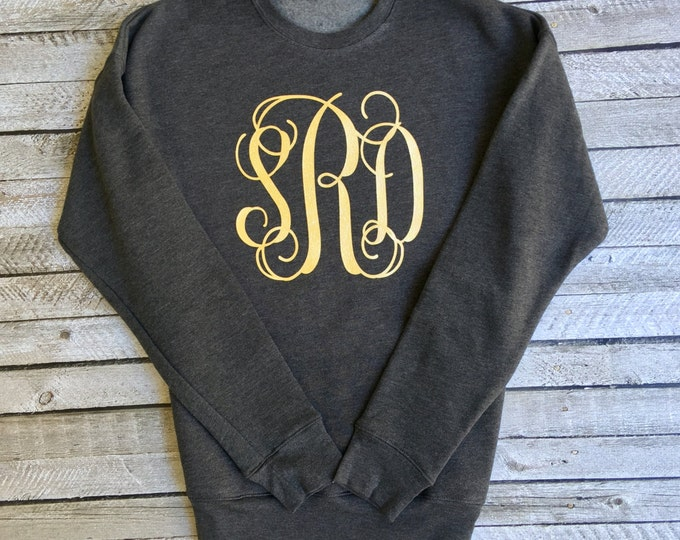 Monogram Sweatshirt, Oversized Monogram Sweatshirt, Monogrammed Gifts, Personalized gifts, Gift under 20, Gift for her, Christmas Gifts