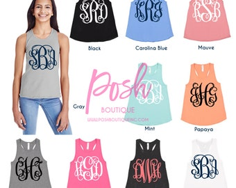 Monogrammed Tank tops, Monogrammed Gifts, Monogram tank Tops for Girls, Monogram Tank Top, Group Discounts