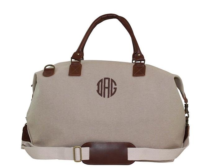 Monogrammed Weekender Bag, Oversized Weekender, Leather and Jute Weekender Bag, Monogrammed Luggage, Luxury Weekender, Monogrammed Gifts