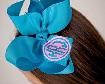 Monogrammed Hair Bow Hair bows Cheer bows Hair bow Monogrammed gifts Big Cheer Bows Hair Bows for Girls Boutique Hair Bows